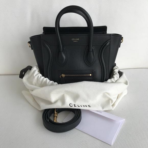 d5353d5f118e Celine Handbags - Authentic Céline Nano Luggage Black with Receipt